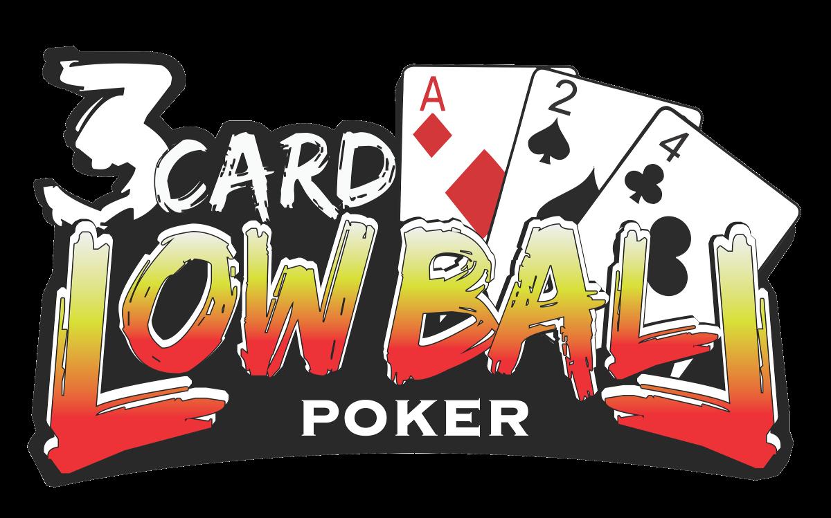 Three Card Lowball Poker Logo